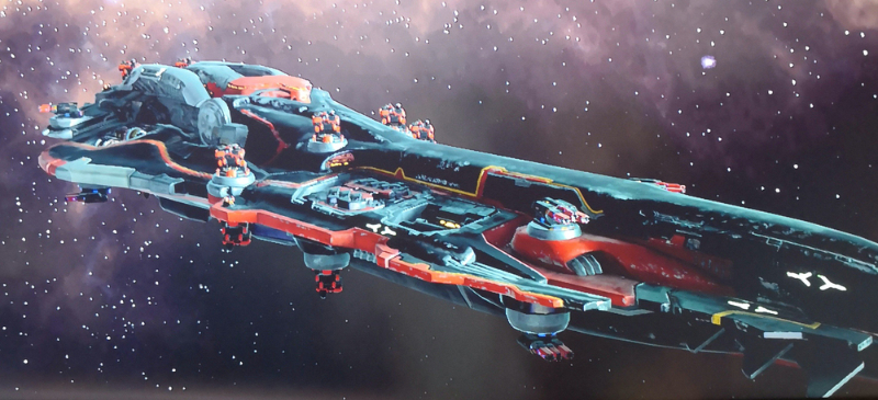 Same ship minutes later in game